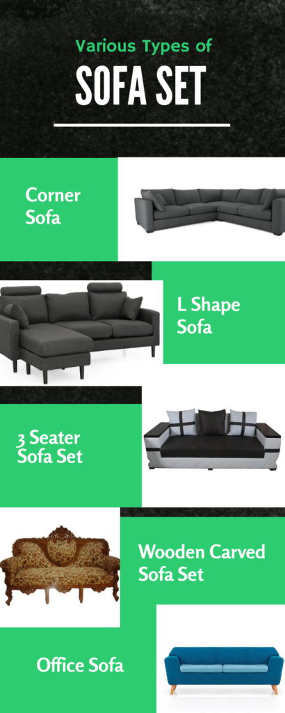 various types of sofa set