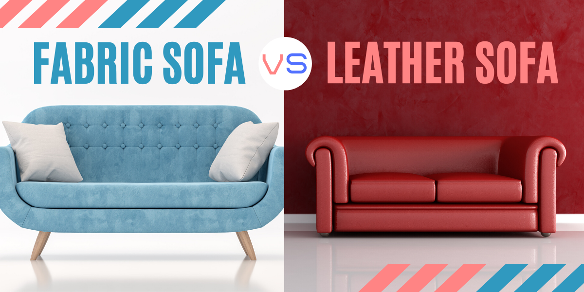 fabric sofa vs leather sofa