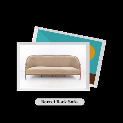 Barrel Back Sofa