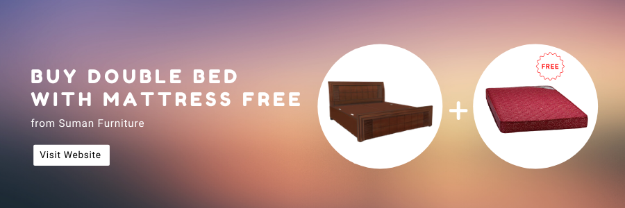 Buy double bed with mattress free