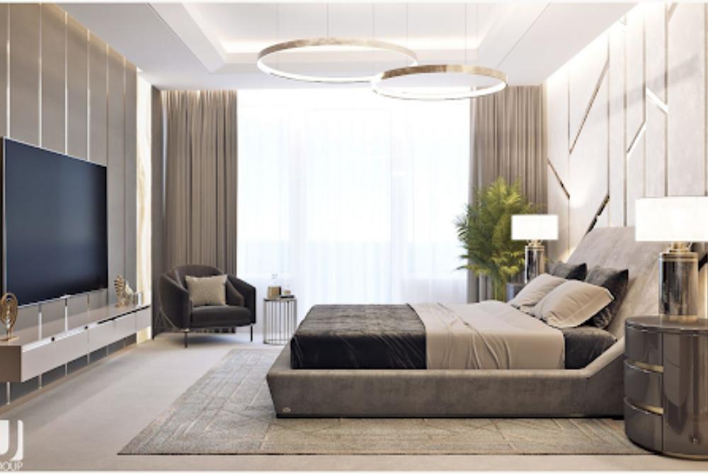 Luxry bedroom design portriat