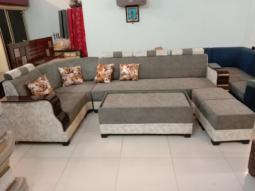 Antique Gray 7 Seater Sofa Set